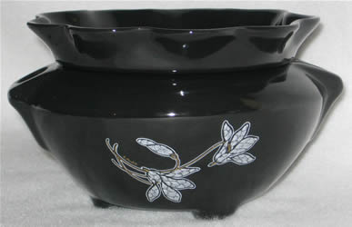 Black-White Lily Decal