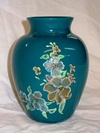 Teal Enhanced Decal Vase